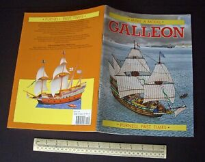 "1988 Vintage Cut-Out Card Model Book ""Galleon"" Elizabethan/Spanish Armada Era."