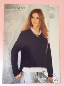 3b798247a8d084 Image is loading Stylecraft-Eskimo-Kisses-D-K-Sweater-Knitting-Pattern-9052-