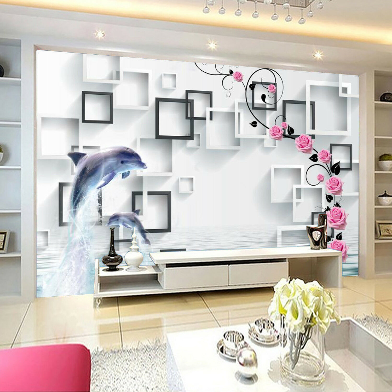 3D 3D 3D Kasten Delphin Wasser 7988 Tapete Wandgemälde Tapeten Bild Familie DE Kyra | Ausgewählte Materialien  |  525be9