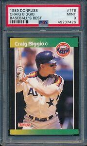 1989-Donruss-Baseball-039-s-Best-Craig-Biggio-R-176-PSA-9-ASTROS-MINT-HOF