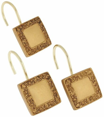 """Carnation Home Fashions /""""Lakewood/"""" shower curtain hooks,set of 12 CAR-PHP-LW//02"""