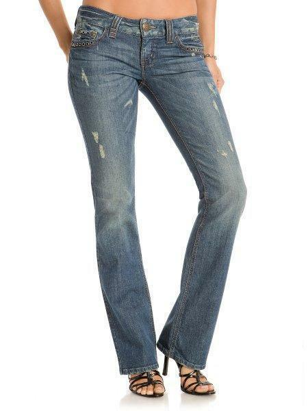 NWT  128 GUESS WOMAN'S SERENA BOOTCUT JEANS SIZE 23
