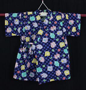 Jinbei-Tenue-traditionnelle-japonaise-ENFANT-3-5-ANS-Made-in-Japan