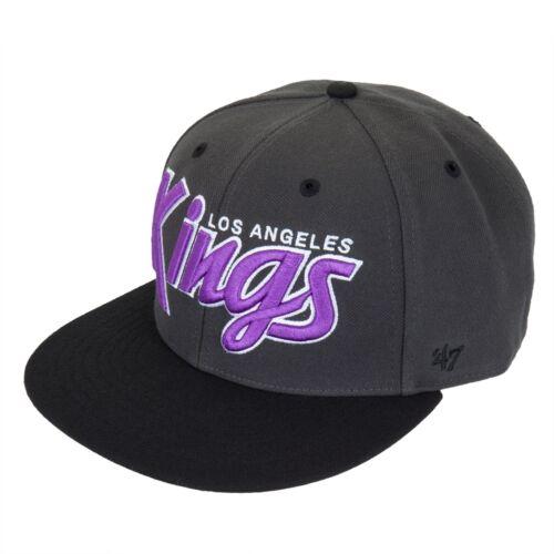 Logo Retroscript Adjustable Baseball Cap Los Angeles Kings Dark Gray