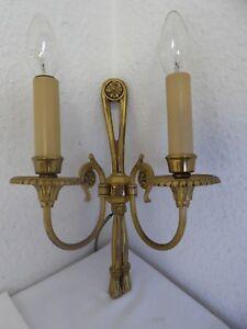 Wunderschöne  Antik Massiv Messing Wandlampen 1 von 3    L 0