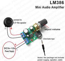 LM386 Audio Power Amplifier Board DC 3V~12V 5v Mini AMP Module Adjustable volume