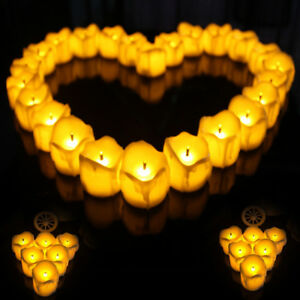 Small 12 24pcs Valentine S Day Mood Candles Light Flameless Bedroom