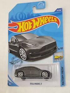 2020 Hot Wheels #112 Factory Fresh Tesla Model 3 Exotic Grey