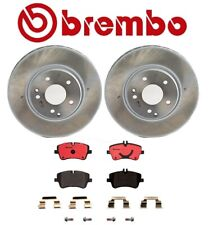 For MB R171 W203 Front /& Rear Disc Brake Rotors Ceramic Pads Sensors Kit Brembo