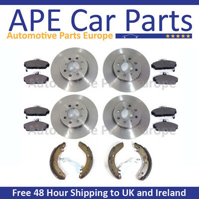 BMW 120D E87 04 TO MARCH 07 FRONT /& REAR BRAKE DISCS /& PADS SHOES FITTING KIT