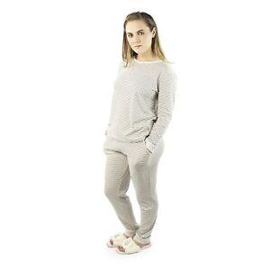 Of Rebecca Ladies comode di abbinato Slippers Womens righe a House Set pigiama Cotton Sq6xdSt