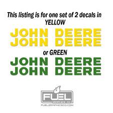 John Deere Lettering Premium Vinyl Decal Sticker 2 Pack Green Or Yellow