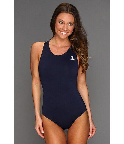 TYR Durafast Elite Solid Navy Maxfit One Piece Swimsuit 1823 Size 40