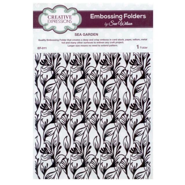 Sue Wilson EF-011 Embossing Folder - Sea Garden