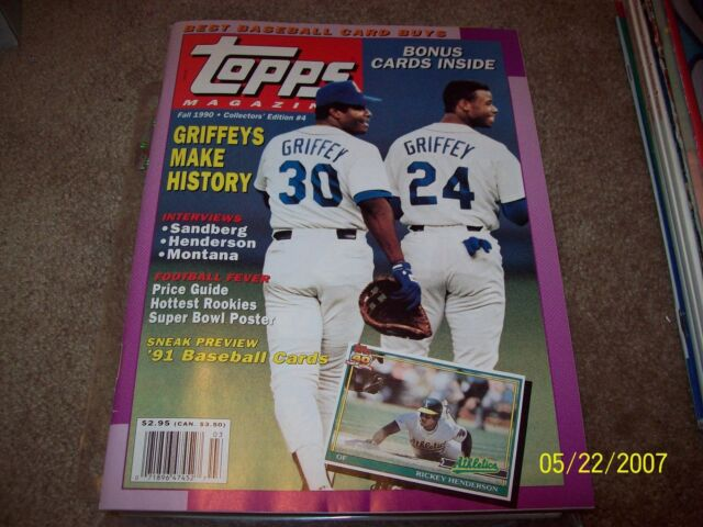 Topps Baseball Magazine Fall 1990 W Cards And Poster