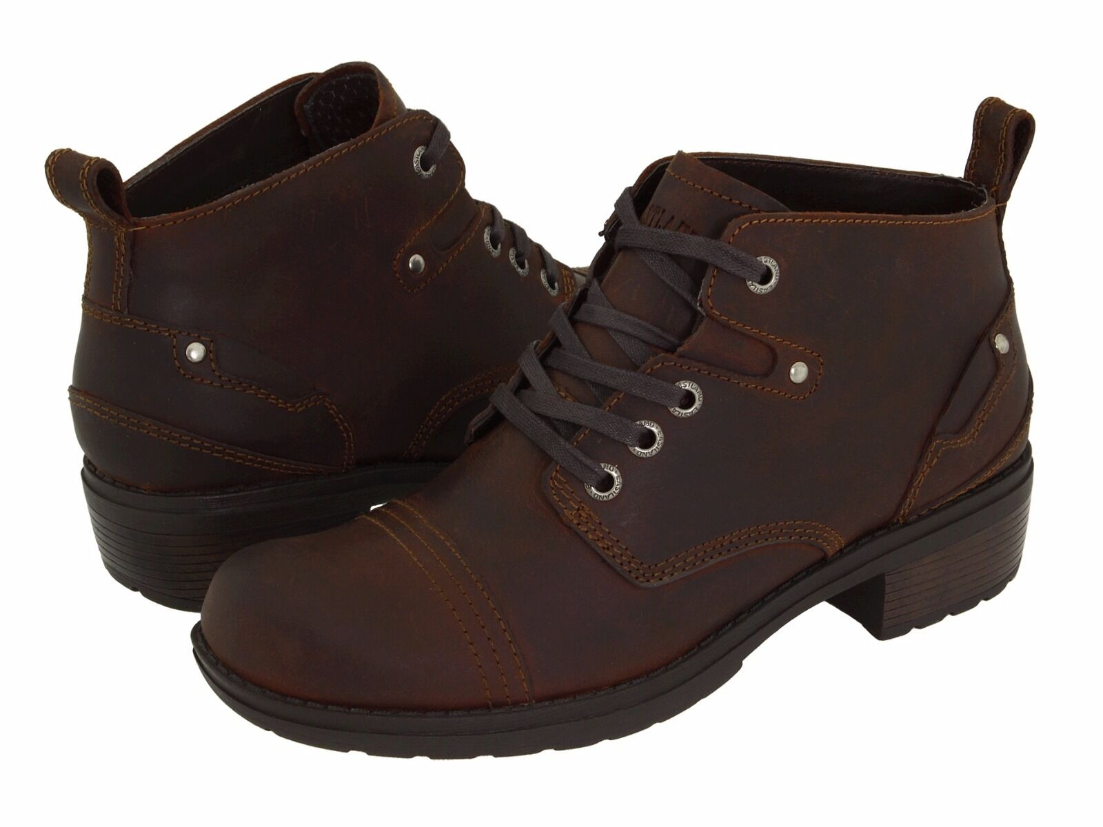 Eastland Women's Overdrive Ankle Brown Leather Boot Boot Boot Boots 3138 58c7d8