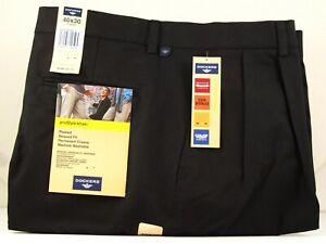 Dockers-proStyle-khaki-Men-039-s-Dress-Pants-Black-Relaxed-Fit-Comfort-Cut