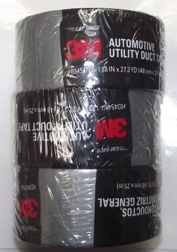 "3M 03454NA Automotive Utility Duct Tape 1.88/"" x 27.3 yd - 3 ROLLS"