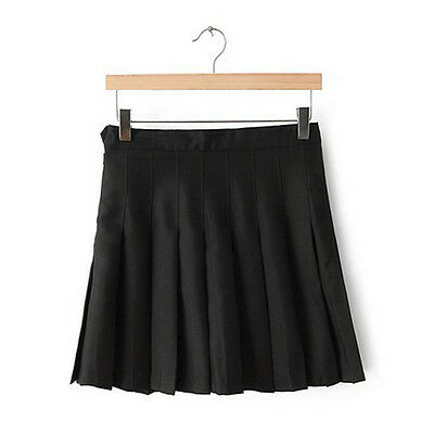Womens Stylish Slim Soft High Waist Pleated Tennis Skirt Casual Dress Playful