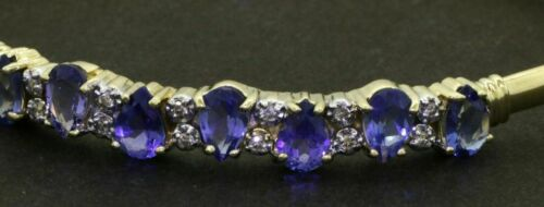 "Details about  /4.00Ct Pear Cut Tanzanite /& Diamond 7.25/"" Tennis Bracelet 14k Yellow Gold Over"