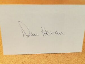 DICK-HOWSER-d-1987-Royals-Yankees-Indians-As-AUTOGRAPHED-3x5-index-card-RARE