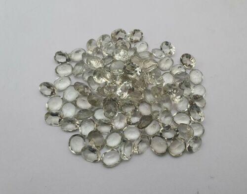 100 CT Natural Green Amethyst Oval Cut Loose Gemstone Lot 40 Pcs 8*10 MM