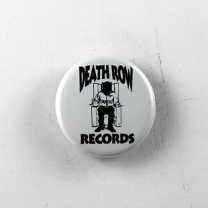 "DEATH ROW RECORDS hip hop 90s rap 1.25"" button pin pinback badge"