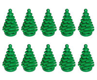 Lego 10 Pcs Green Pine Tree Small 2x2x4 Plant Christmas City Town Forest