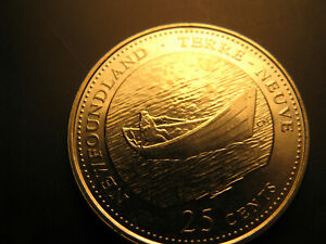 Canada-1992-Newfoundland-Province-Commemorative-25-Cent-Mint-Coin