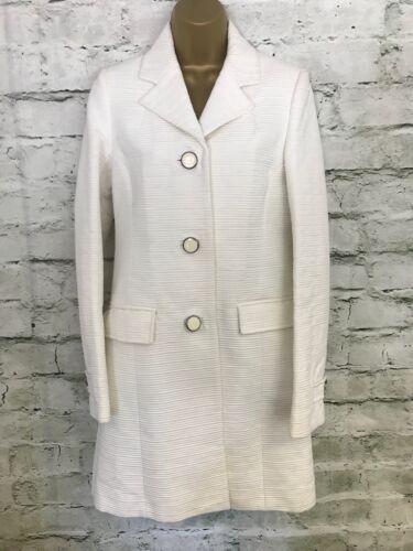 Uk Cotton Jakke 725599369078 Oragon Små Lang Summer Hvid Ribbed Ladies Coat 8 Ivory Reiss 6wP44q