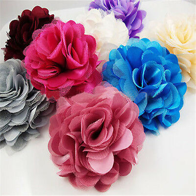 Hot Sale Lady U Pic Silk Blooming Flower Brooch Hair Pins Clips Accessory