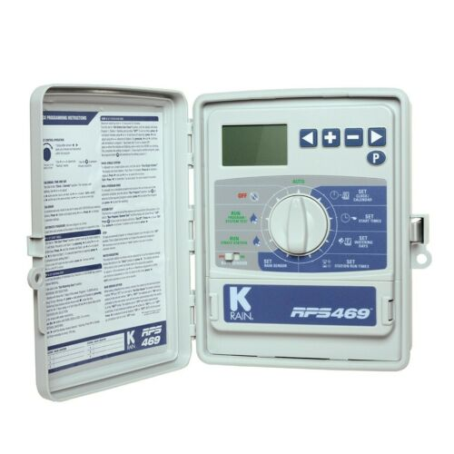 K-Rain RPS469 Model 3609 RPS Outdoor Irrigation Controller 9 Zones//Stations 220V