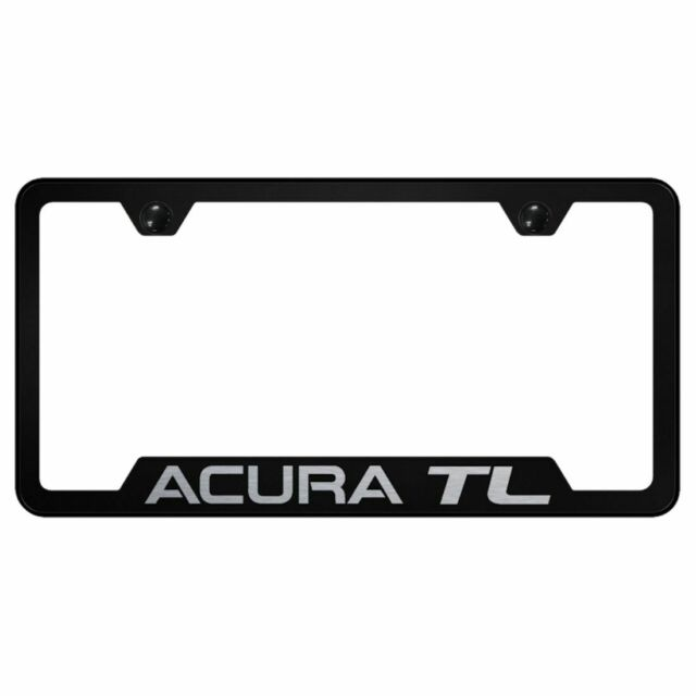 Acura TL Black Stainless Steel License Plate Frame