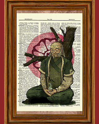 Zuko Avatar Dictionary Art Print Picture Legend Korra Airbender