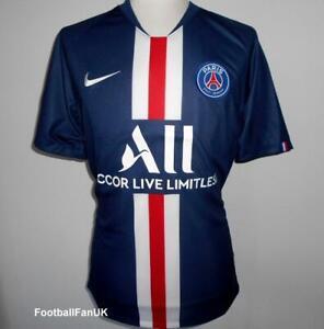 Détails sur PSG Nike officiel Home Football Shirt 2019 2020 nouveau maillot Paris ST Germain afficher le titre d'origine