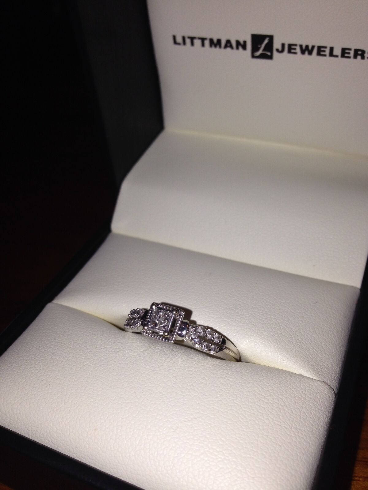 PROM 10K 1 5CTTW diamond ring size 8 with life-time warranty care-plan