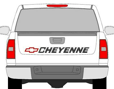 SILVER CHEVROLET Bed Decal Chevy Trucks Tailgate Sticker
