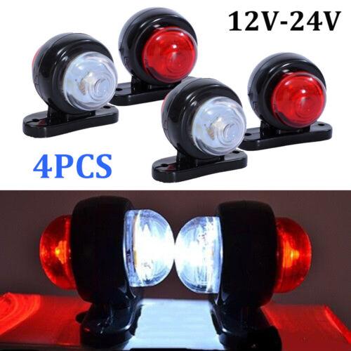 4 x LED Red White Side Marker Lights Outline Lamp Car Truck Trailer Van 12V//24V