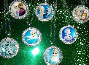 Exquisite-Frozen-Elsa-Anna-Olaf-Character-Pendant-Necklaces-with-Rhinestones