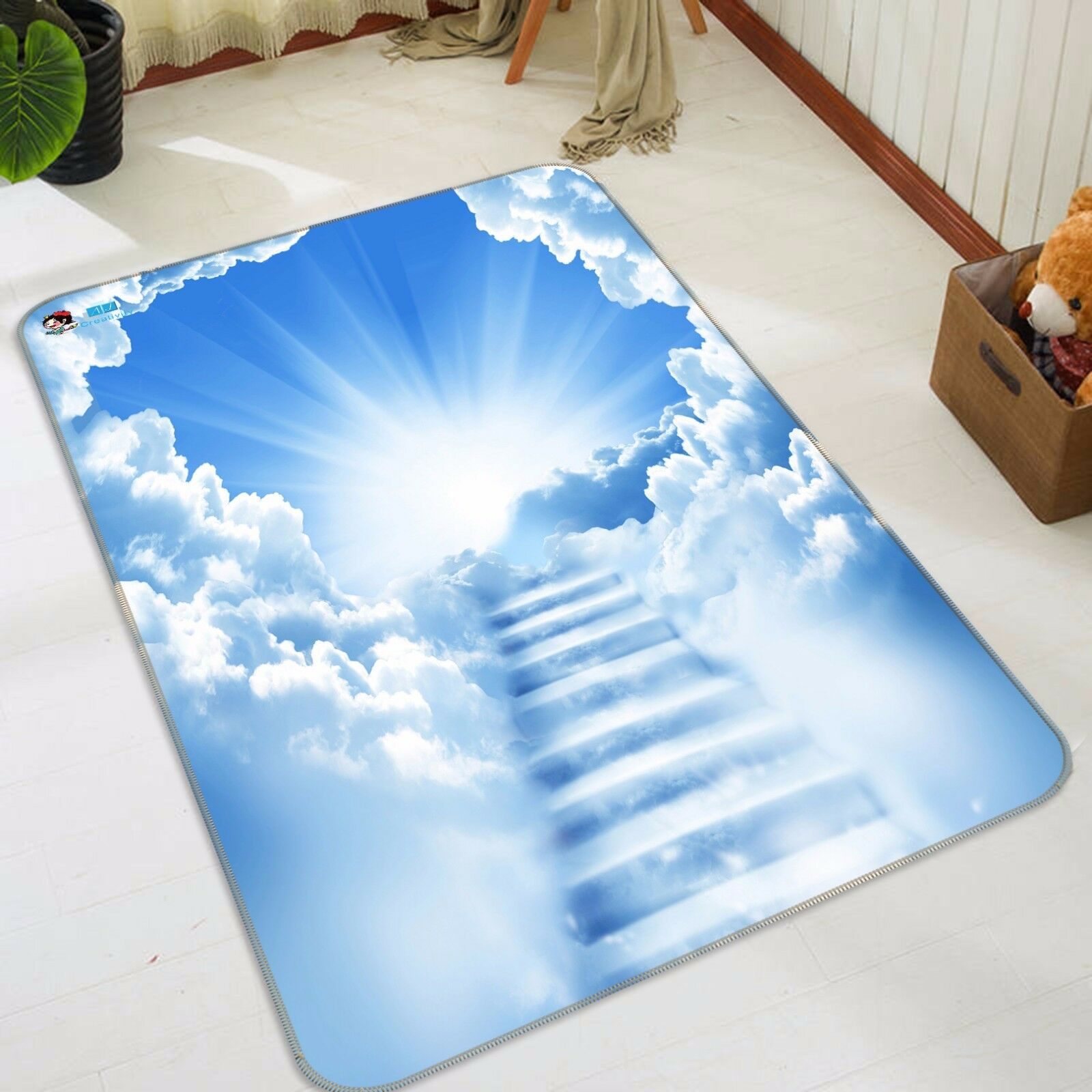 3D Clouds Stairs 424 Non Slip Rug Mat Room Mat Quality Elegant Photo Carpet CA
