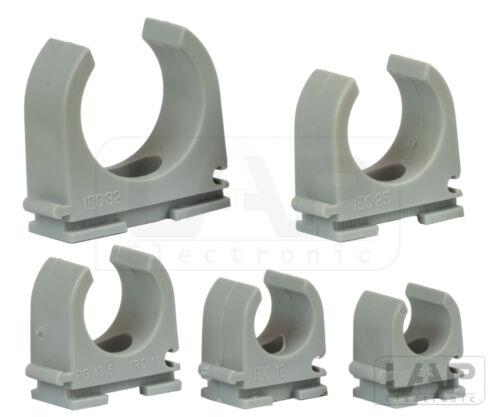 Klemmschellen Quickschellen Rohrschellen Schellen grau M12 M16 M20 M25 M32