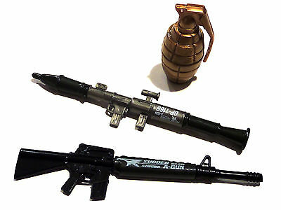 Set of 3 Gun pen pens grenade Bazooka M-16 Sudden a Gun by Popcorn of Korea