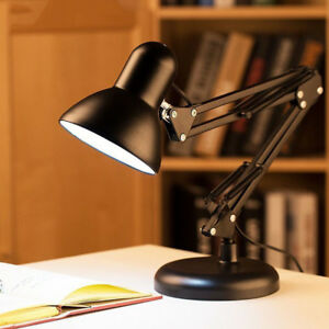 New-Adjustable-Swing-Arm-Desk-Lamp-Table-Drafting-Light-Home-Office-Work-Reading