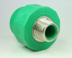 Aqua-plus-PPR-fusiotherm-Acople-AG-32mm-1-Pulgada-Conducto-de-agua