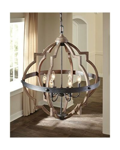 Saint Mossi Oil Rubbed Bronze Farmhouse Chandelier Lighting Flush mount LED C...