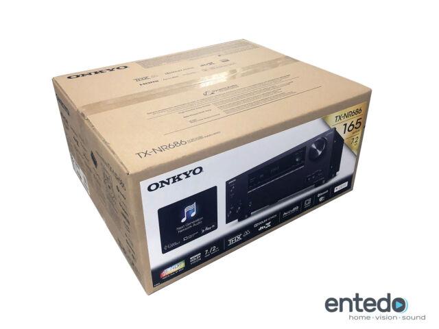 Onkyo TX-NR686 7.2 Heimkino AV-Receiver Verstärker THX HDR10 4K Atmos Schwarz