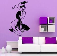 Harley Quinn Wall Vinyl Decals Super Hero Sticker DC Comics Art Decor (22jbat)