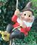 Grand-Gnome-amant-cadeau-arbre-escalade-pendaison-Corde-Ornement-Decoration-Sculpture miniature 1