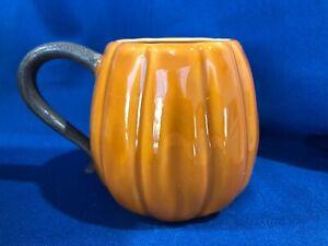 New 1 Pottery Barn Rustic Pumpkin Mug Cup Thanksgiving