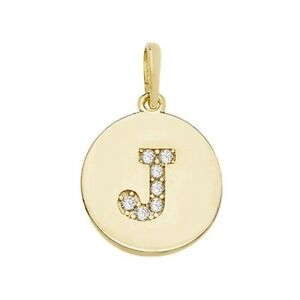 Details about  /9ct Gold Round Cubic Zirconia Initial I Necklace